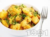 Рецепта Варени картофи с грах и сусам (гарнитура за риба или бяло месо)